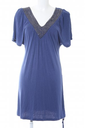 Fornarina Jerseykleid blau Casual-Look