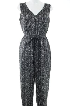 Fornarina Combinaison noir-blanc motif abstrait style décontracté