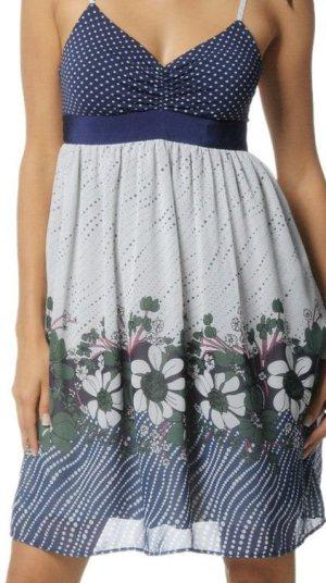 Fornarina Kleid blau, weiß, Blumen