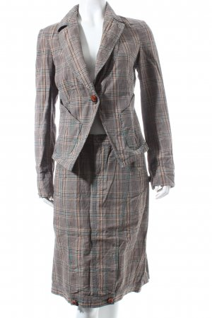 Fornarina Ladies' Suit grey brown-beige check pattern business style