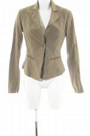 Fornarina Kurz-Blazer bronzefarben Streifenmuster Business-Look