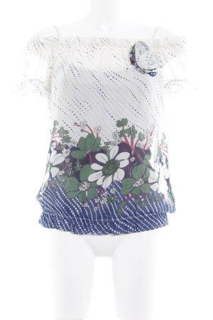 Fornarina Kurzarm-Bluse Blumenmuster Casual-Look