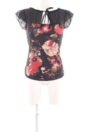 Fornarina Kurzarm-Bluse Blumenmuster Elegant