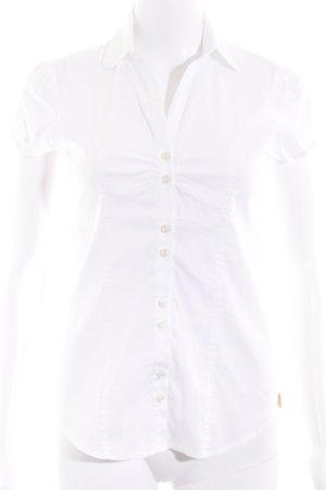 Fornarina Shirt met korte mouwen wit zakelijke stijl