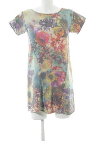 Fornarina Kurzarmkleid florales Muster extravaganter Stil