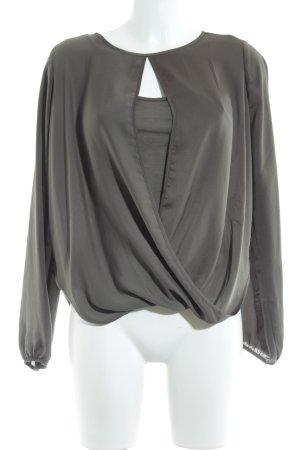 Fornarina Langarm-Bluse khaki extravaganter Stil