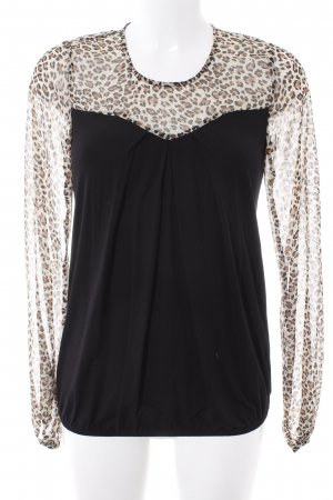 Fornarina Langarm-Bluse Leomuster Country-Look