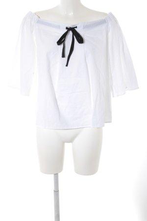 Fornarina Langarm-Bluse weiß Casual-Look