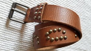 Fornarina Leather Belt bronze-colored