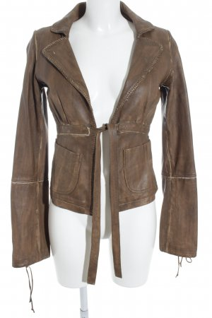 Fornarina Lederjacke braun Street-Fashion-Look