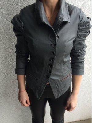 Fornarina Giacca in pelle grigio Pelle