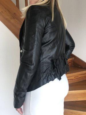 Fornarina Lederjacke schwarz Elegant