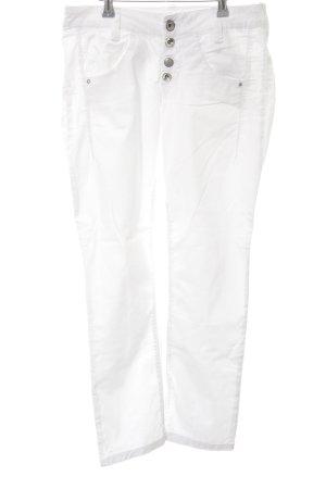 Fornarina Pantalone di lino bianco stile casual