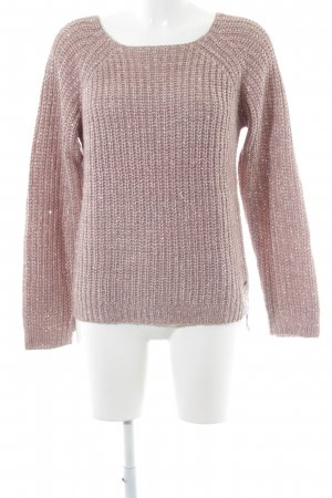 Fornarina Long Sweater dusky pink cable stitch casual look