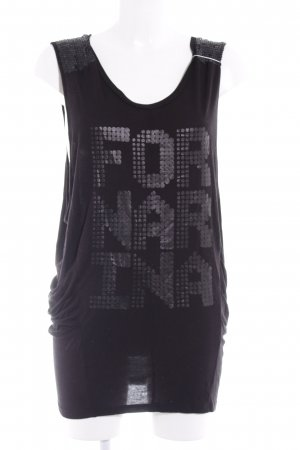 Fornarina Top long noir style extravagant
