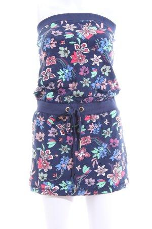 Fornarina Minikleid blau Blumenmuster Casual-Look