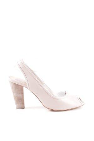 Fornarina Peep Toe Pumps natural white casual look