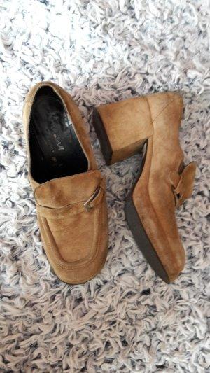 Fornarina Plateau-Schuhe Gr. 39 ECHTLEDER Vintage