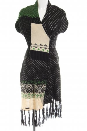 Fornarina Poncho graphic pattern casual look