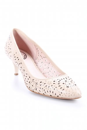 Fornarina Pumps nude Logo-Applikation aus Metall