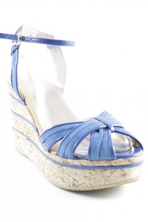 Fornarina Strapped High-Heeled Sandals beige-blue beach look