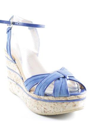 Fornarina Riemchen-Sandaletten beige-blau Beach-Look