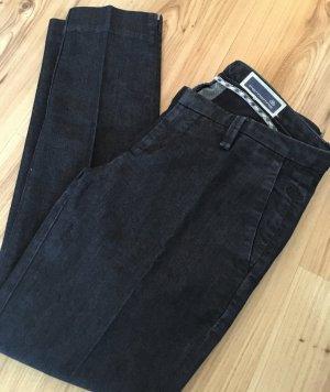 Fornarina Röhren Low Waist Jeans W26 XS 34 Denim Dunkelblau Slim Fit Ankle Skinny Hose Cropped