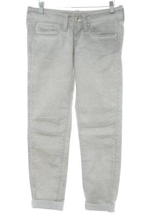 Fornarina Drainpipe Trousers light grey-oatmeal casual look