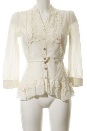 Fornarina Rüschen-Bluse hellgelb Elegant