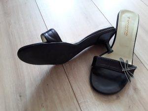 Fornarina Zapatos de tacón con barra en T negro