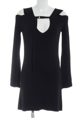 Fornarina schulterfreies Kleid schwarz extravaganter Stil