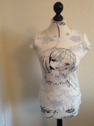 Fornarina Shirt Größe M Mädchen Knöpfe hinten :) Strass Ausgefallenes Design!