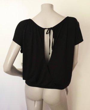 Fornarina Shirt schwarz offener Ausschnitt hinten Gr. M WIE NEU Viskose Elasthan