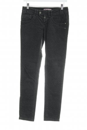 Fornarina Skinny Jeans anthrazit Leomuster Casual-Look