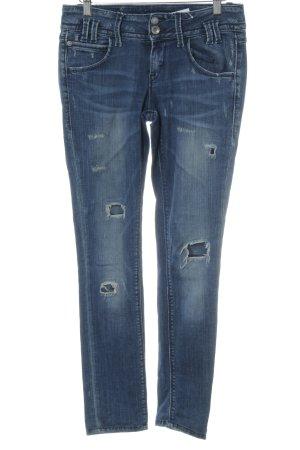 Fornarina Skinny Jeans blau-weiß Jeans-Optik