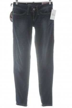 Fornarina Skinny Jeans dunkelblau-wollweiß Casual-Look