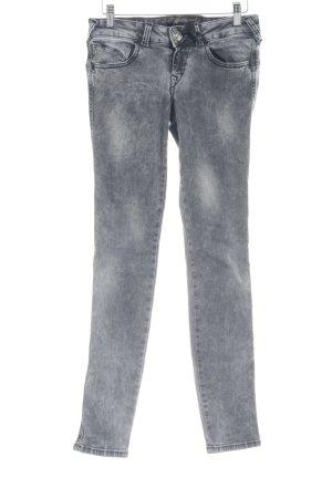 Fornarina Skinny Jeans grau Biker-Look