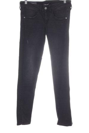 Fornarina Skinny Jeans schwarz-anthrazit Biker-Look