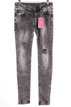 Fornarina Skinny Jeans black-grey color gradient casual look