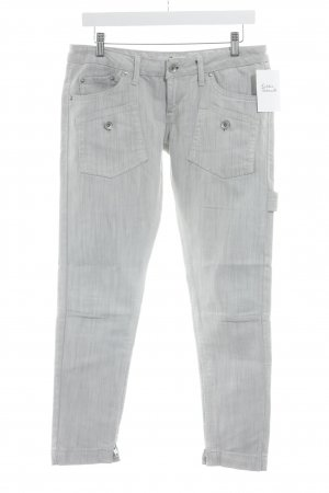 Fornarina Skinny Jeans schwarz-hellbeige meliert Casual-Look