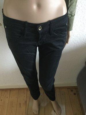 FORNARINA slim Hose Hüfthose pants schwarz W25 34 36 S
