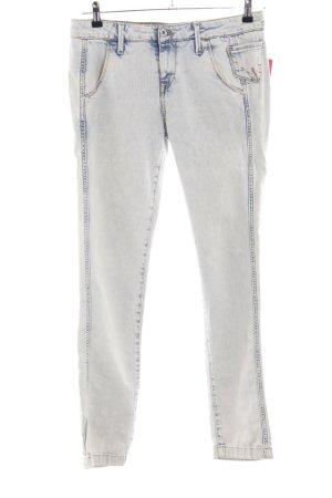 Fornarina Slim Jeans blau-weiß Business-Look