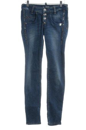 Fornarina Slim Jeans blau Street-Fashion-Look