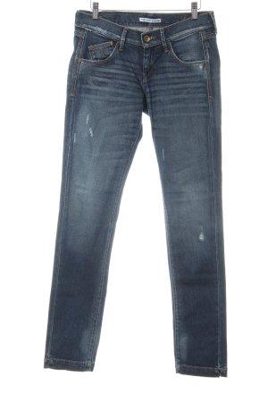 Fornarina Slim Jeans dunkelblau Destroy-Optik