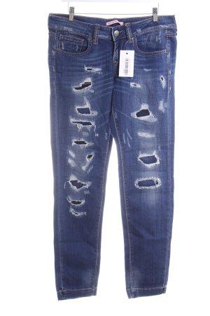 Fornarina Slim Jeans dunkelblau-stahlblau Casual-Look