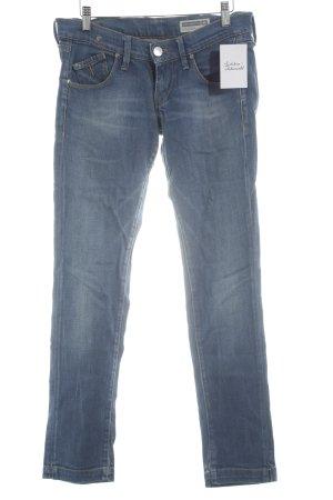 Fornarina Slim Jeans kornblumenblau-himmelblau Casual-Look
