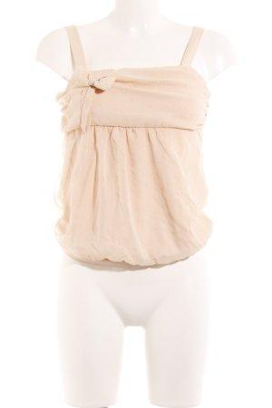 Fornarina Haut à fines bretelles rose chair style romantique