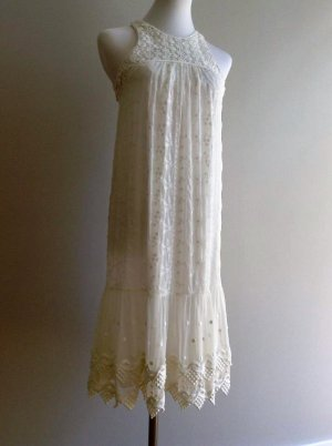 Fornarina Lace Dress white mixture fibre