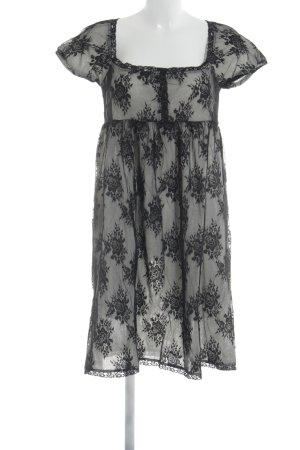 Fornarina Spitzenkleid schwarz-wollweiß Elegant