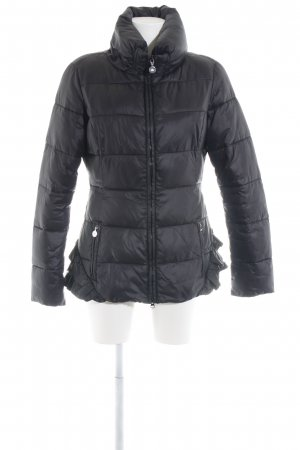 Fornarina Quilted Jacket black quilting pattern casual look